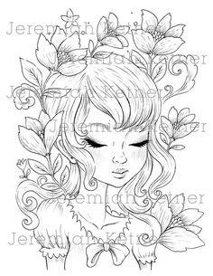Amor de primavera  página para colorear