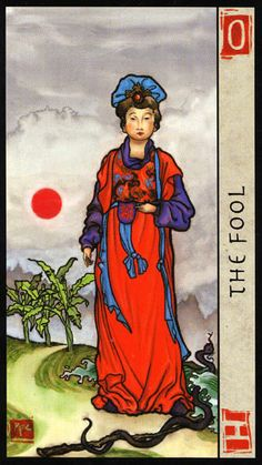 The meaning of The Fool from the Feng Shui Tarot deck: Let go of expectations and trust your instincts. Feng Shui, Yin Yang, Tarot The Fool, Tarot Significado, Modern Deck, Rider Waite Tarot, Tarot Card Meanings, Tarot Card Decks, Major Arcana