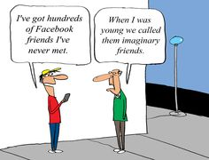 Facebook Friends, by Jerry King
