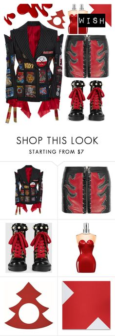 """#PolyPresents: Wish List"" by sunnydays4everkh ❤ liked on Polyvore featuring Dilara Findikoglu, Anthony Vaccarello, Gucci, Jean-Paul Gaultier, contestentry and polyPresents"