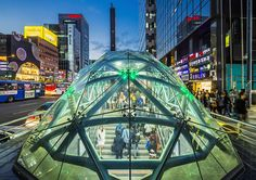 Picture of commuters entering Gangnam Station in Seoul, South Korea