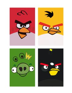 The Contemplative Creative: Project : Angry Birds Goodie Bags