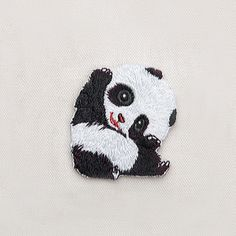 Cute Panda Patch for Clothing Iron on Applique Clothes Shoes Bags Decoration Animal Patch DIY Accessories Hand Embroidery Stitches, Embroidery Patches, Embroidery Art, Embroidery Patterns, Diy Embroidery On Jeans, Cute Patches, Diy Patches, Jean Crafts, Iron On Applique