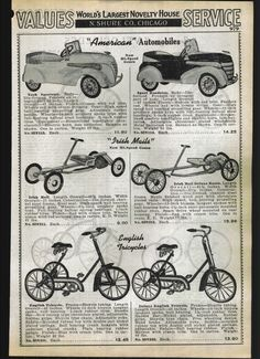 1939 Ad American Pedal Cars