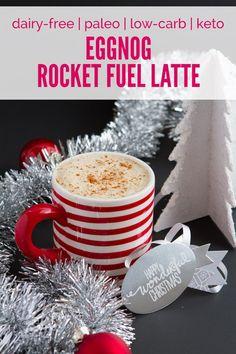 Eggnog Rocket Fuel Latte | Healthful Pursuit #lowcarb #keto #eggnog