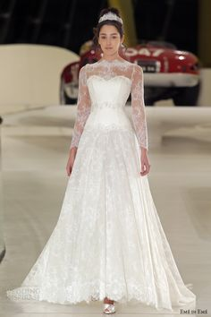 eme di eme bridal 2014 bruxelles romantic long sleeve lace wedding dress