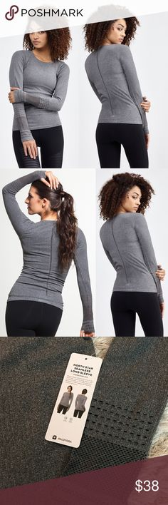 NWT Alo North Star seamless long sleeve top m New with tag. Size m ALO Yoga Tops