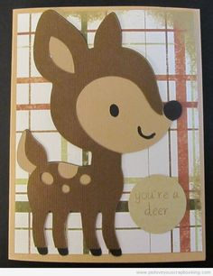 Deer Card Using Cricut Create A Critter and My Pink Stamper