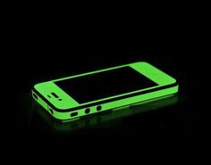 iPhone Decal That Glows At Night / The New and Improved iGlowPhone Glow-in-the-Dark vinyl edge wrap for the iPhone 4S is hands down the coolest and most sought after accessory for the iPhone 4S. http://thegadgetflow.com/portfolio/iphone-decal-that-glows-at-night-14/