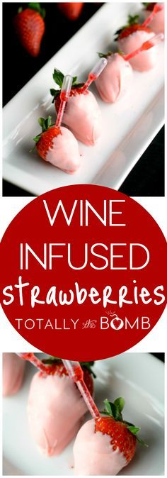 How do you make chocolate-covered strawberries better than they already are? Get a little science-y with it and turn them into Wine Infused Strawberries.