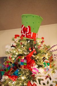 Top off your Christmas Tree with a Top Hat! Christmas tree topper, lime green top hat