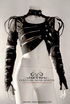 Dea Denimae unique denim bolero jacket with by CoutureNoirShapes, $240.00