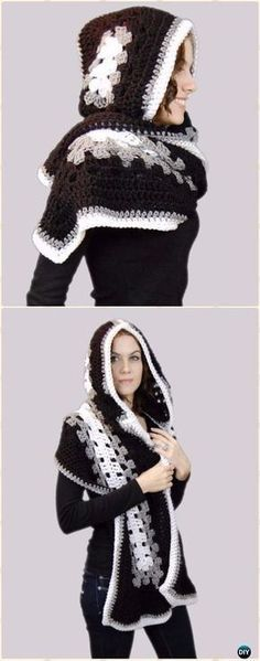 Serenity Hooded Scarf Pattern By Tina Lynn Creations Crochet