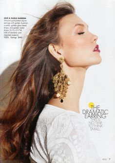 Neiman Marcus Cataloge tear sheets with Jose and Maria Barrera jewelry Starburst Earrings, Gold Statement Earrings, Hoop Earrings, Bead Jewellery, Jewelry Art, Jewelry Ideas, Neiman Marcus Christmas Book, Semi Precious Beads, Long Pendant Necklace
