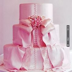 Cool - fabulous pink wedding cake | CHECK OUT MORE GREAT PINK WEDDING IDEAS AT WEDDINGPINS.NET | #weddings #wedding #pink #pinkwedding #thecolorpink #events #forweddings #ilovepink #purple #fire #bright #hot #love #romance #valentines #pinky