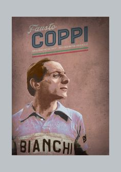Retro Cycling  - Fausto Coppi Original graphic poster art designed in The Northern Line studio in Ulverston, Cumbria. We ship worldwide. #cycling #posters #graphicart