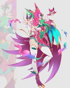Xayah Lol League Of Legends, Shyvana League Of Legends, Desenhos League Of Legends, Evelynn League Of Legends, League Of Legends Characters, Comic Anime, Anime Art, Game Character Design, Character Art