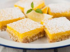 Enjoy the zesty taste of your favorite lemon bars, but without all of the sugar. This recipe takes this favorite treat and makes it healthy, but still delicious.