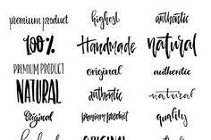 Handdrawn Logo Creator Bundle - Logos