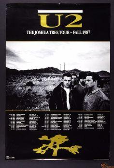 U2 The Joshua Tree Tour Final 1987 Original Vintage Poster 24 x 36