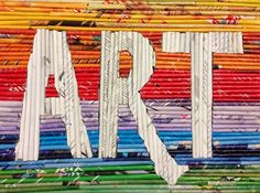 Art. Paper. Scissors. Glue!: Magazine Reed Collages name or initials if long name