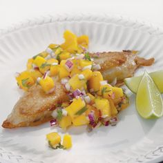 While this quick, tropical salsa goes perfectly with Beer-Battered Tilapia, it also complements chicken, pork or other mild white fish.