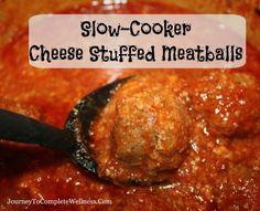 Recipe: Slow-Cooker Cheese Stuffed Meatballs
