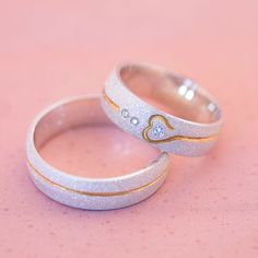Wedding Ring Bands, Wedding Jewelry, Stylish Jewelry, Fashion Jewelry, Jewelry Rings, Jewelery, Couple Jewelry, Gold Earrings Designs, Cute Rings