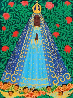 Catholic Art, Catholic Saints, Religious Art, Popular Art, Arte Popular, Madonna, Cuban Art, Mexican Folk Art, Naive Art