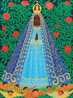 Nossa Senhora Aparecida, s/d Djanira da Motta e Silva (Brasil 1914-1979) óleo sobre tela,  73 x 54 cm-