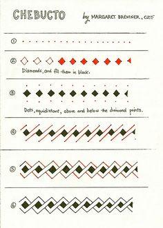Zentangle pattern Chebucto by Margaret Bremner, Certified Zentangle Teacher CZT