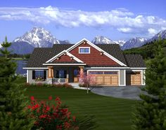 Craftsman Ranch House Plan 97320
