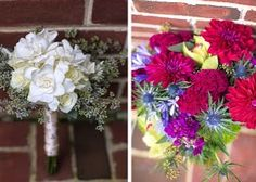 Check out these stunning bouquets on my latest post on devinebride.co.uk  #realwedding #americanwedding #america #usa #weddinginspiration #weddingideas #flowerfriday #happyfriday #flowerstagram #pennsylvaniawedding #weddingbouquet #weddingflowers #bride #bridesmaid #weddingblog #weddingblogger #devinebride #thistle #magnolia #hydrangea