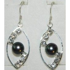 """Earrings is made of light metal with shungite stone - """"Gaya""""."""
