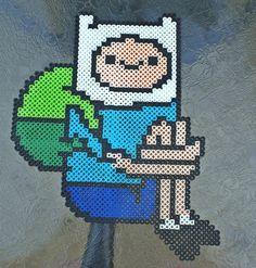 Finn - Adventure Time perler beads by ZombieLolitaPrincess