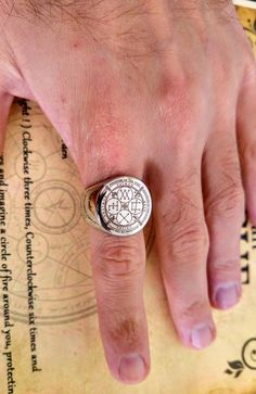 Archangels Protection Sigil ring Alchemy amulet Goetia | Etsy Four Archangels, Dark Evil, Book Of Genesis, Angel Warrior, Archangel Raphael, Magic Ring, Evil Spirits, Alchemy, Wicca
