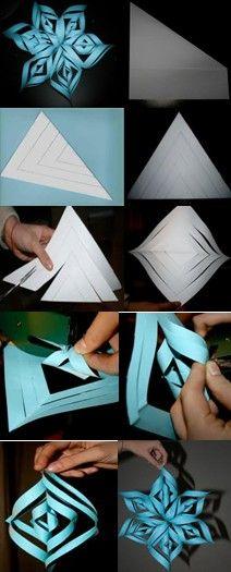 Stella tridimensionale di carta 23
