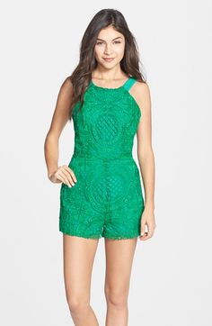Adelyn Rae Embroidered Lace Romper available at #Nordstrom