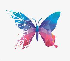 Butterfly Clip Art, Butterfly Drawing, Butterfly Painting, Butterfly Logo, Butterfly Design, Geometric Drawing, Geometric Painting, Geometric Shapes, Origami Design