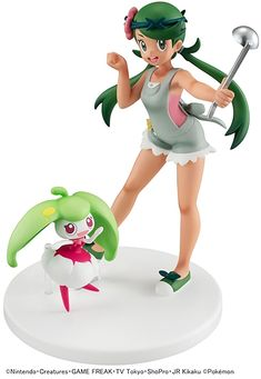 """Mallow from """"Pokemon"""" and her partner Steenee now join the G. The fun relationship between the two of them is evident i Pokemon Mallow, Drawing Heads, Anime Figurines, Anime Dolls, Pokemon Sun, Cute Chibi, Cute Girl Outfits, Girls Characters, Fantasy Creatures"""