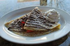 Strawberry, banana, and nutella crepe! This is the exact one from KC @Steven Trotter Province Yumm!!