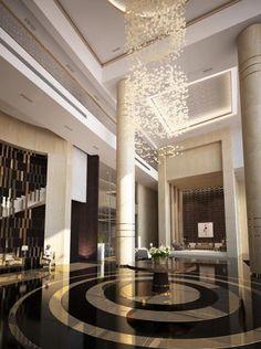 Enhance Your Senses With Luxury Home Decor Modern Hotel Lobby, Hotel Lobby Design, Luxury Modern Homes, Luxury Home Decor, Lobby Interior, Hotel Decor, House Entrance, Modern Entrance, Hotel Interiors