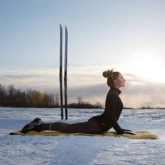 Pilates on the snow