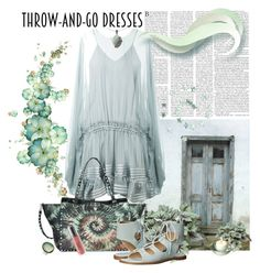 """""""Easy Peasy: Throw-and-go-dresses silk smooth"""" by fiery555 ❤ liked on Polyvore featuring Chloé, Valentino, Chinese Laundry, Lord & Taylor, Revlon and BARONI"""