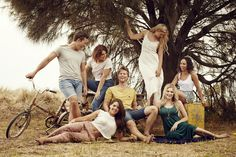 Some of our gorgeous cast: Harley Bonner, Morgana O'Reilly, Saskia Hampele, Ariel Kaplan, Olympia Valance, Tim Phillipps, and Jenna Rosenow. #thecast #Neighbours