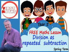 YouTube Division as  repeated  subtraction FREE Year 5 Maths PowerPoint Lesson  - Spring Term