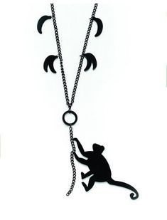 Funny Animal Jewelry   Running  Monkey  Banana Acrylic Necklace  -in Pendant Necklaces from Jewelry on Aliexpress.com | Alibaba Group