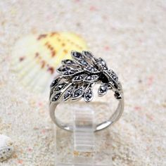 Elegant Rhinestoned Peacock's Tail Shape Ring, AS THE PICTURE, ONE SIZE in Rings | DressLily.com