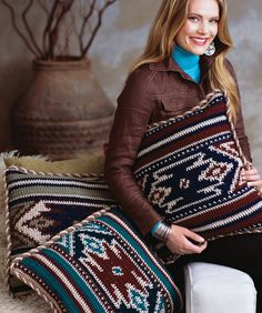 Desert Pillows that are incredible!!...free crochet pattern!