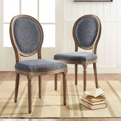 oval back dining chair. Pair Madeleine French Country Laurel Leaf Oval Back Medallion Dining Chair | Chairs, Dream Rooms And Bench